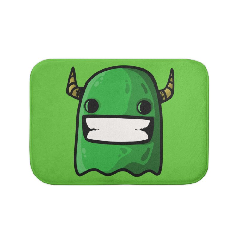 horned ghost green Home Bath Mat by manuvila