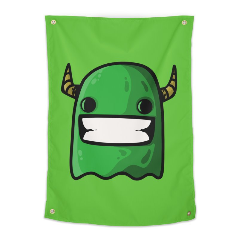 horned ghost green Home Tapestry by manuvila