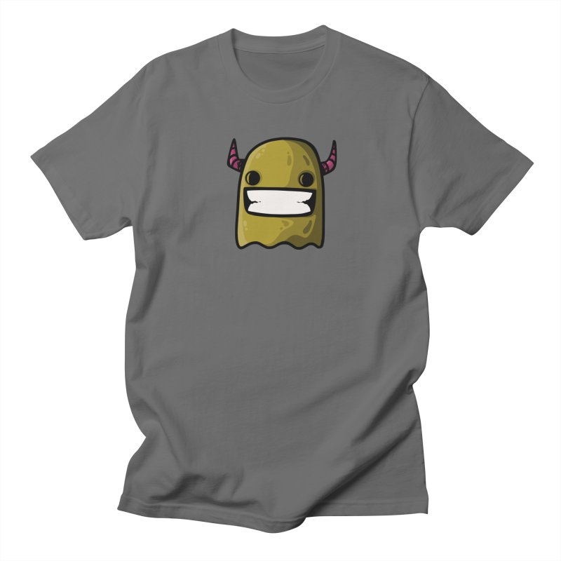 horned ghost yellow Men's T-Shirt by manuvila