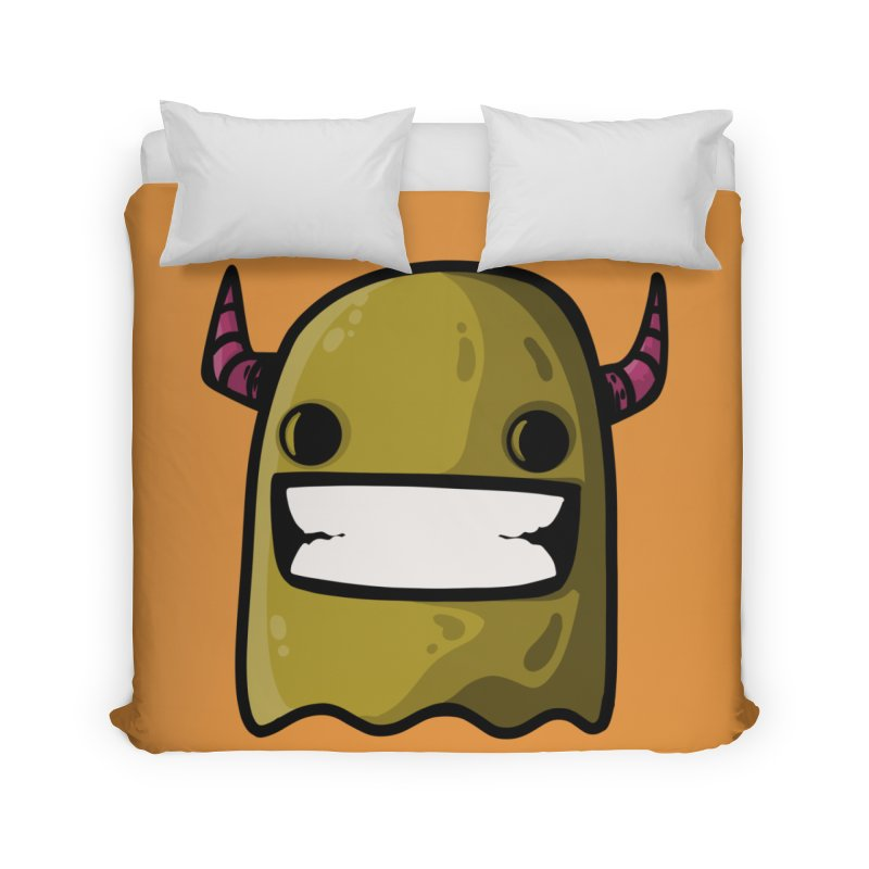 horned ghost yellow Home Duvet by manuvila