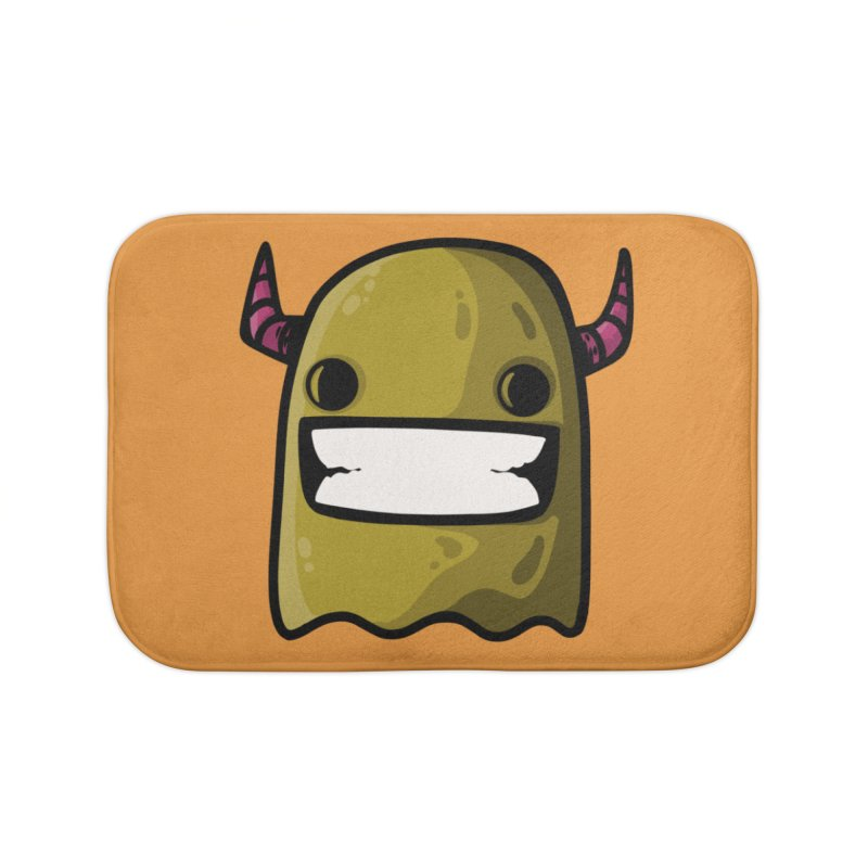 horned ghost yellow Home Bath Mat by manuvila