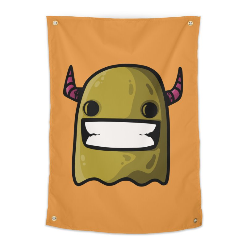 horned ghost yellow Home Tapestry by manuvila
