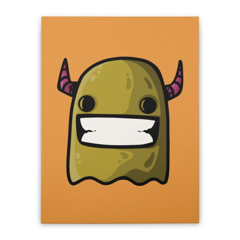 horned ghost yellow Home Stretched Canvas by manuvila