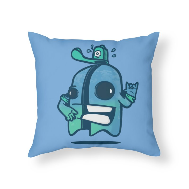 little ghost cut in half Home Throw Pillow by manuvila