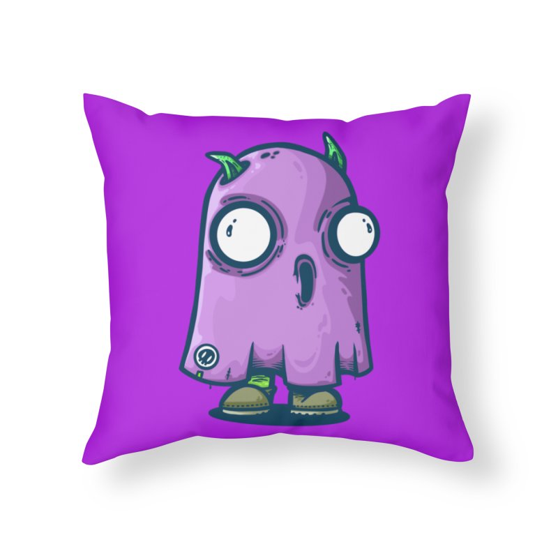 ghost trying to scare Home Throw Pillow by manuvila