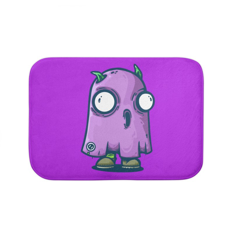 ghost trying to scare Home Bath Mat by manuvila