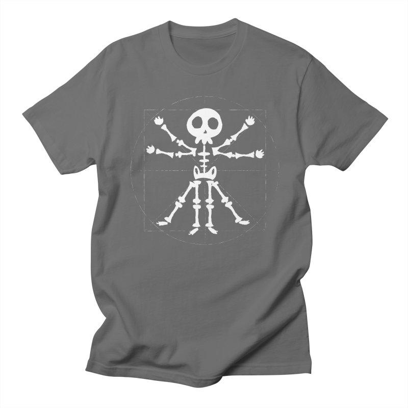 vitruvian skeleton Men's T-Shirt by manuvila