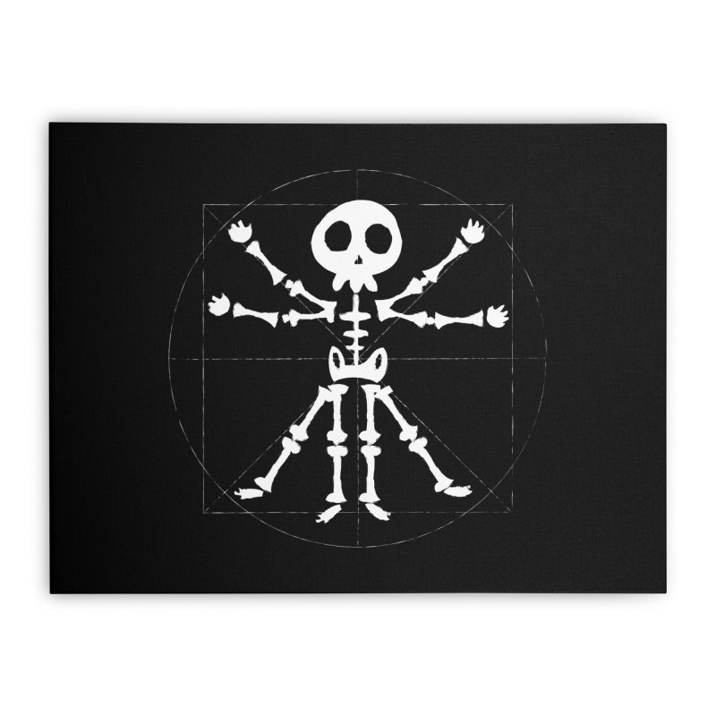 vitruvian skeleton Home Stretched Canvas by manuvila