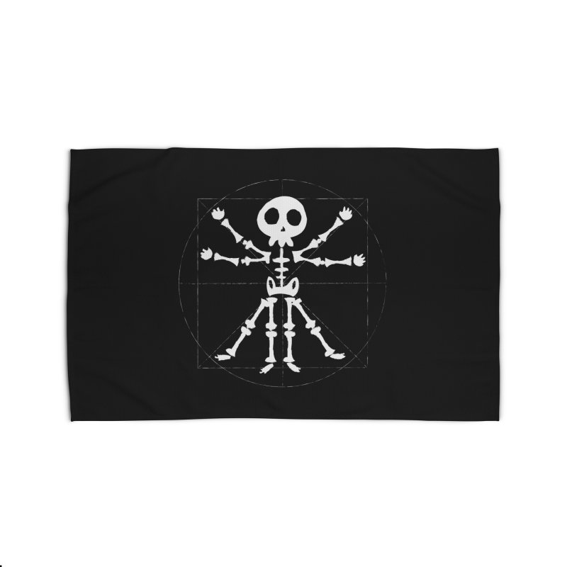 vitruvian skeleton Home Rug by manuvila