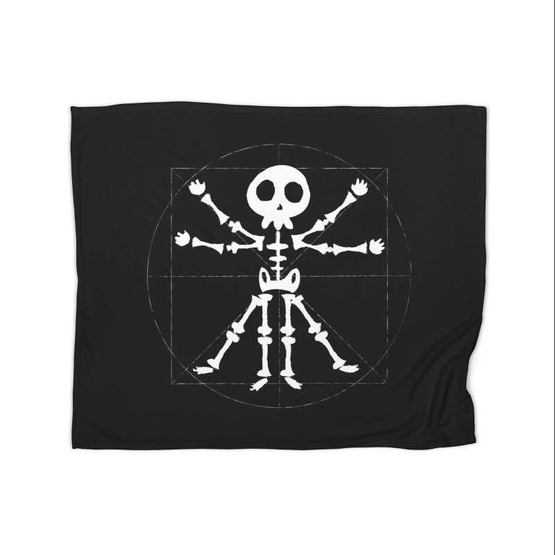 vitruvian skeleton Home Blanket by manuvila