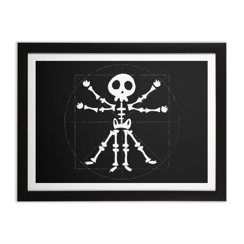 vitruvian skeleton Home Framed Fine Art Print by manuvila
