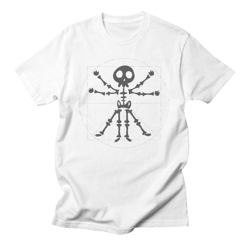 skeleton vitruvian negative Men's T-Shirt by manuvila