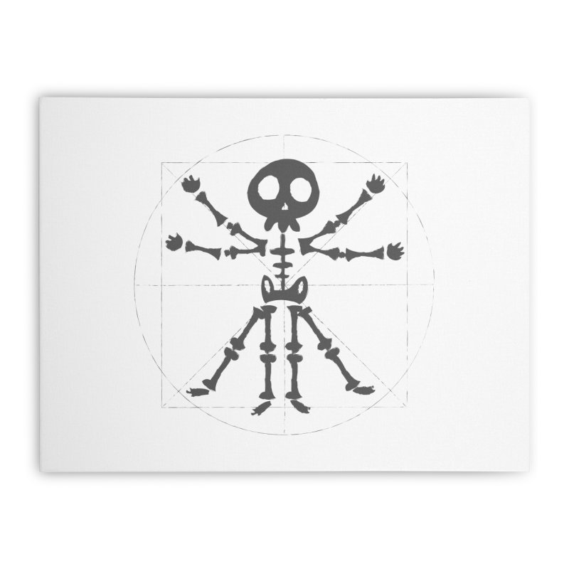 skeleton vitruvian negative Home Stretched Canvas by manuvila