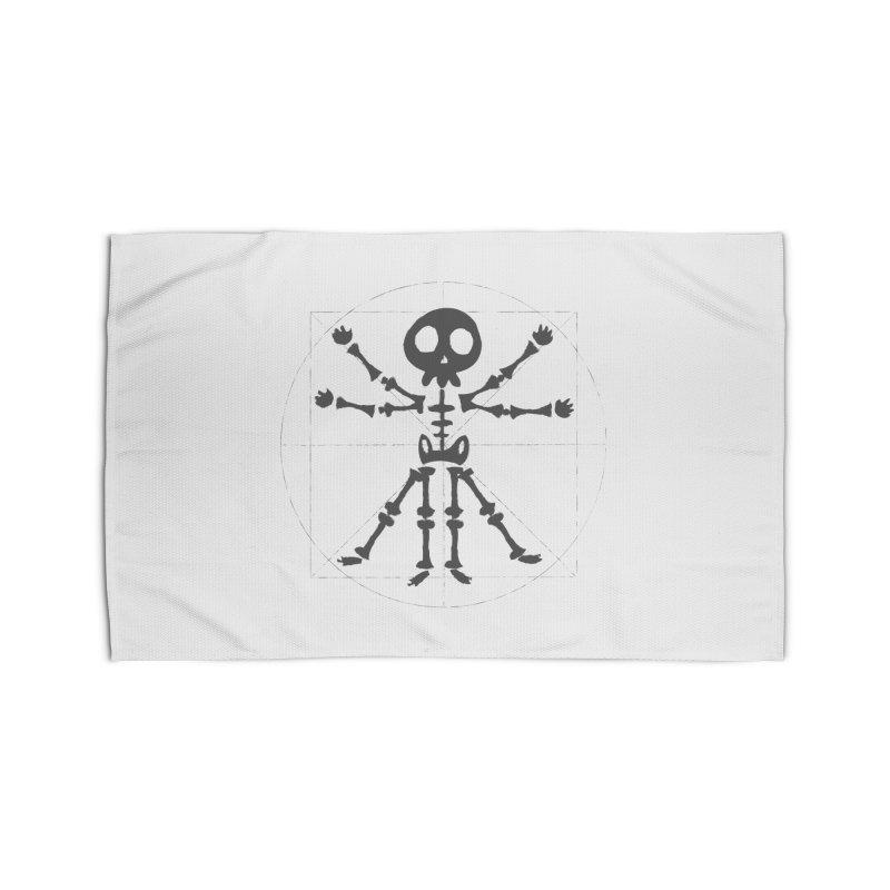 skeleton vitruvian negative Home Rug by manuvila