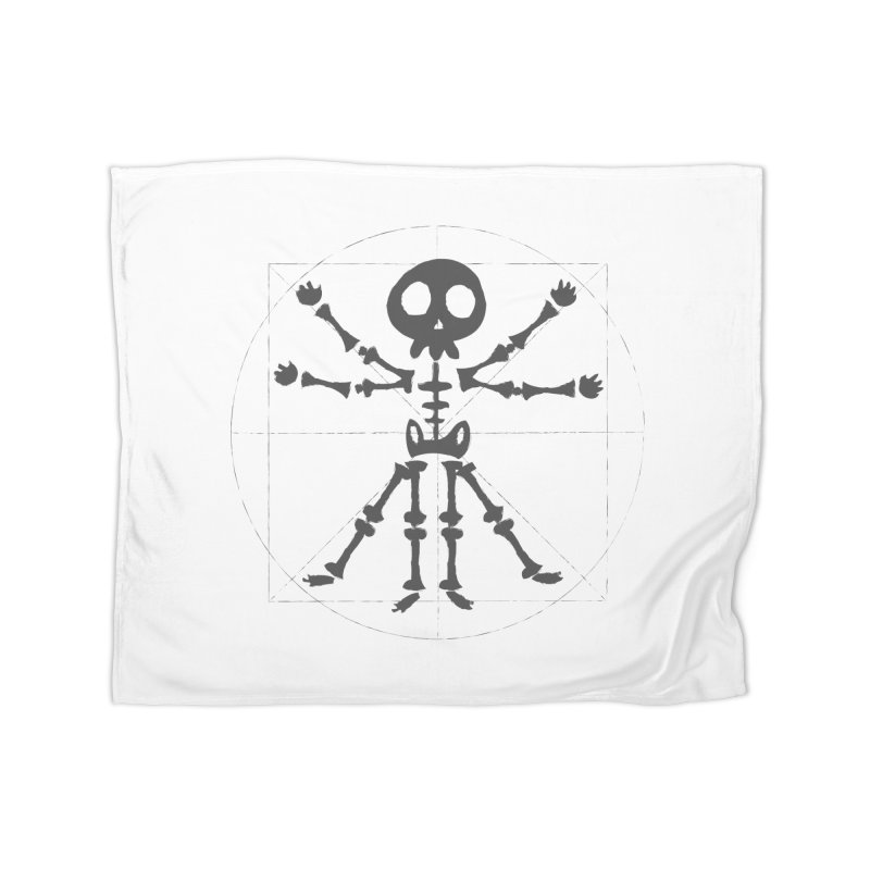 skeleton vitruvian negative Home Blanket by manuvila