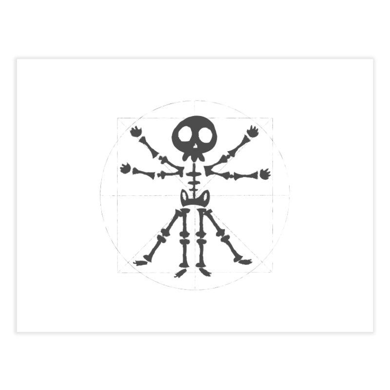 skeleton vitruvian negative Home Fine Art Print by manuvila