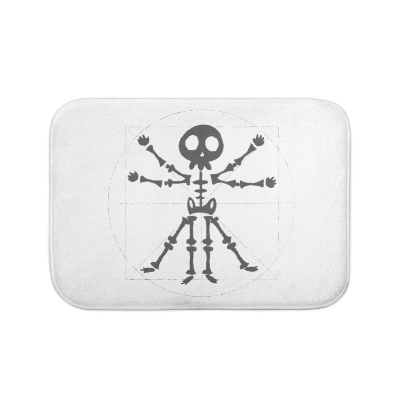 skeleton vitruvian negative Home Bath Mat by manuvila