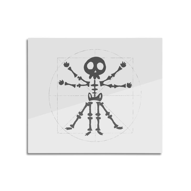skeleton vitruvian negative Home Mounted Aluminum Print by manuvila