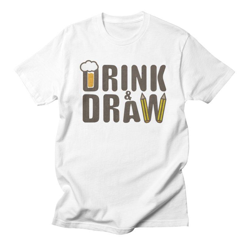 drink & draw Men's T-Shirt by manuvila