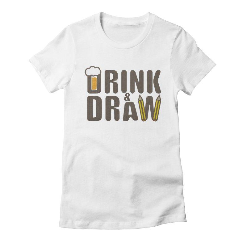 drink & draw Women's T-Shirt by manuvila