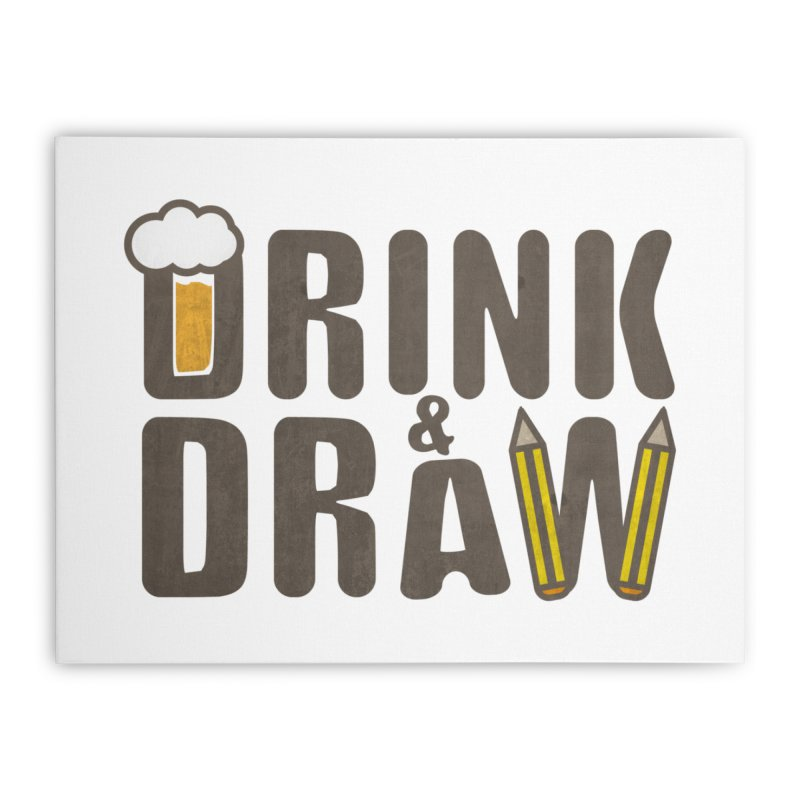 drink & draw Home Stretched Canvas by manuvila