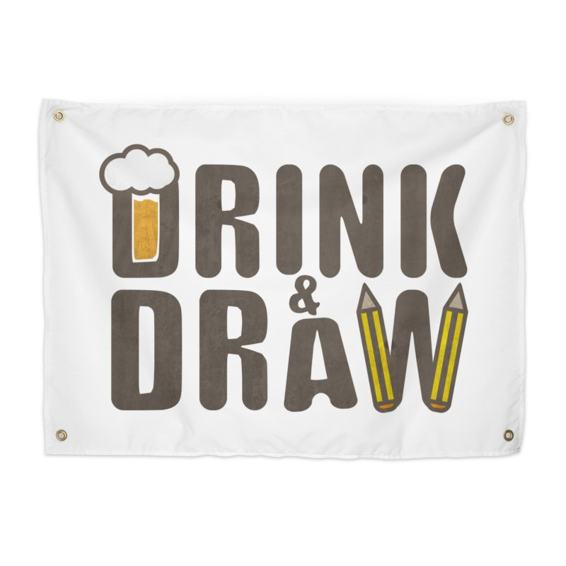 drink & draw Home Tapestry by manuvila