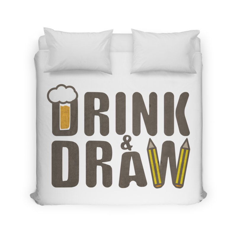 drink & draw Home Duvet by manuvila