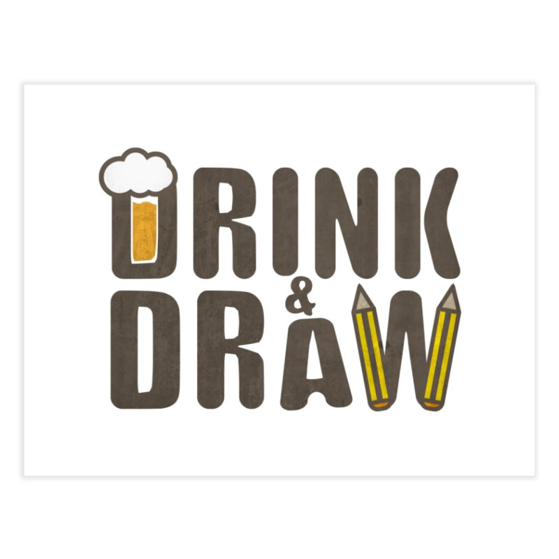 drink & draw Home Fine Art Print by manuvila