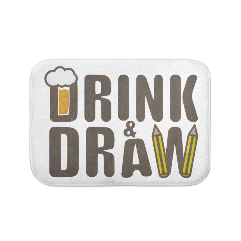 drink & draw Home Bath Mat by manuvila