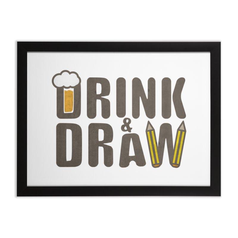 drink & draw Home Framed Fine Art Print by manuvila