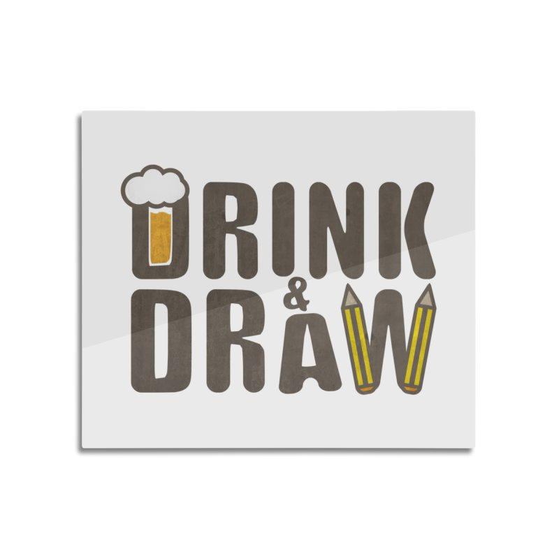 drink & draw Home Mounted Aluminum Print by manuvila