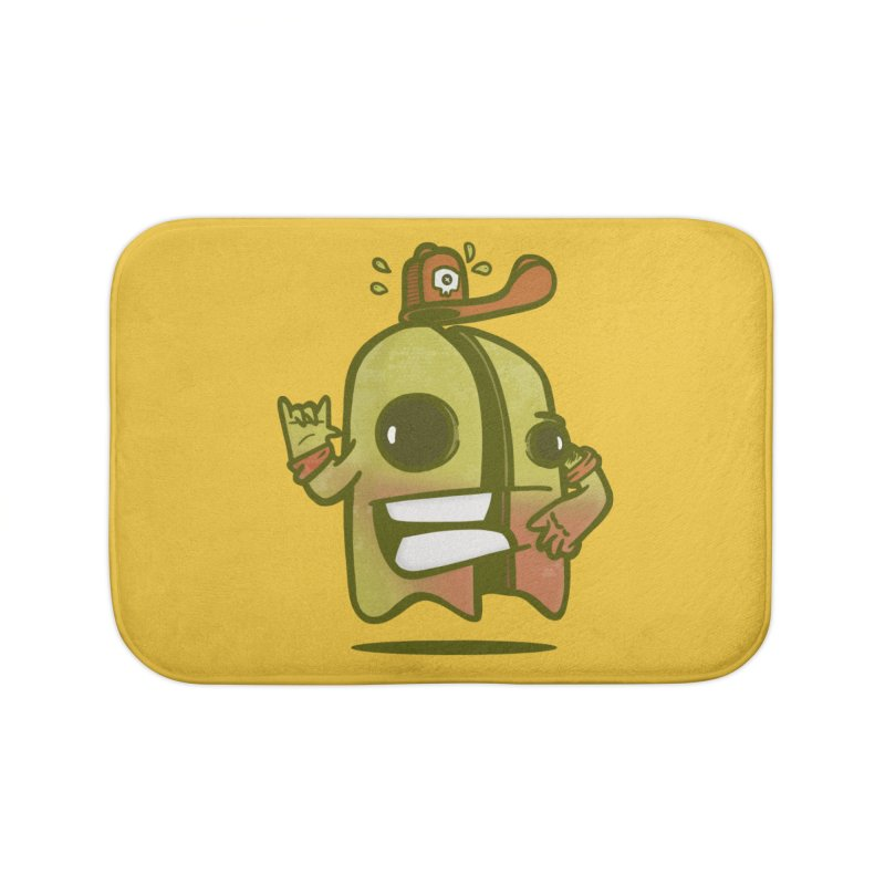 yellow ghost cut in half Home Bath Mat by manuvila