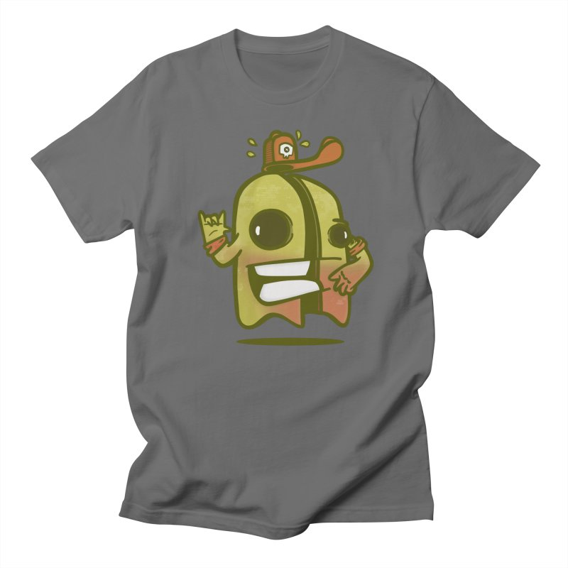 yellow ghost cut in half Men's T-Shirt by manuvila