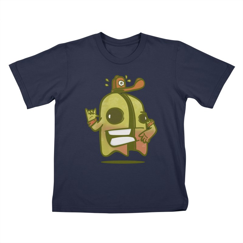 yellow ghost cut in half Kids T-Shirt by manuvila