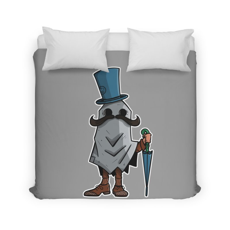 mustachioed ghost Home Duvet by manuvila