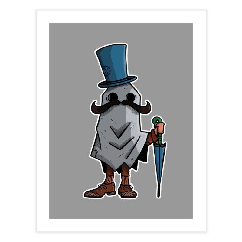mustachioed ghost Home Fine Art Print by manuvila