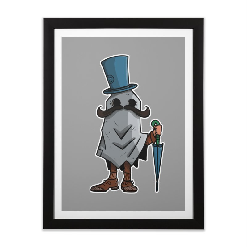 mustachioed ghost Home Framed Fine Art Print by manuvila