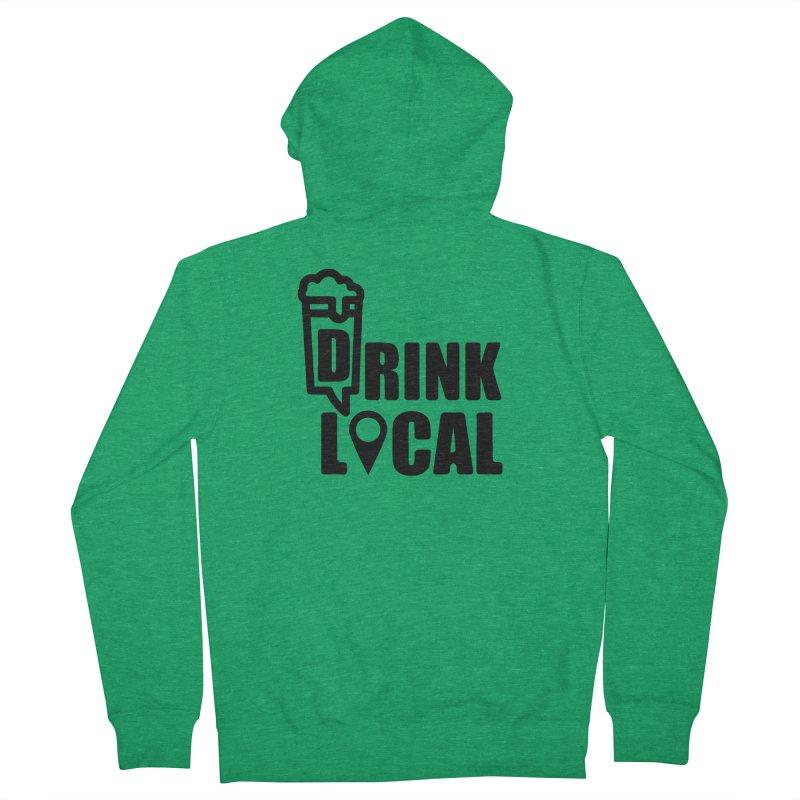 drink local black Men's Zip-Up Hoody by manuvila