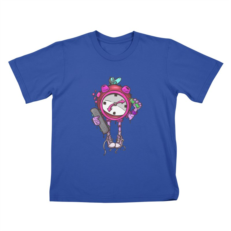 millennial alarm clock colors Kids T-Shirt by manuvila