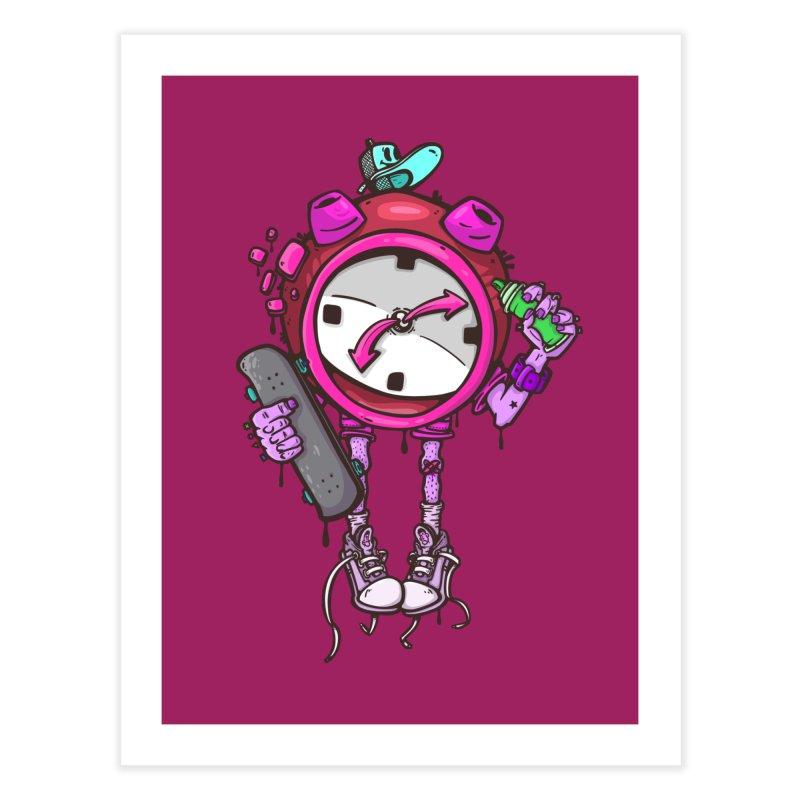 millennial alarm clock colors Home Fine Art Print by manuvila