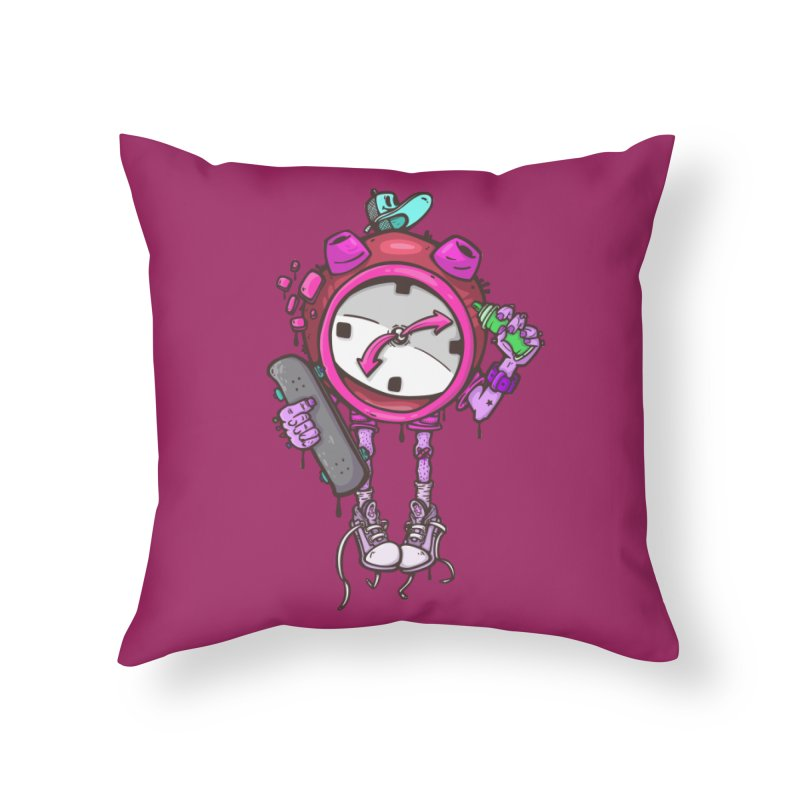 millennial alarm clock colors Home Throw Pillow by manuvila