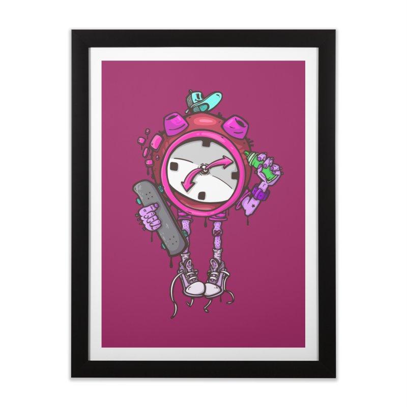 millennial alarm clock colors Home Framed Fine Art Print by manuvila