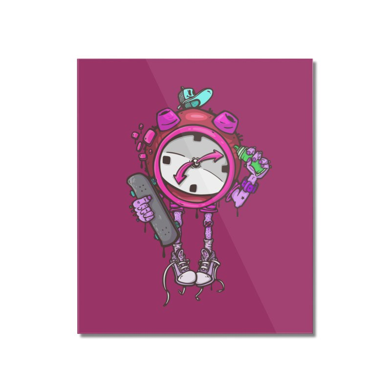 millennial alarm clock colors Home Mounted Acrylic Print by manuvila