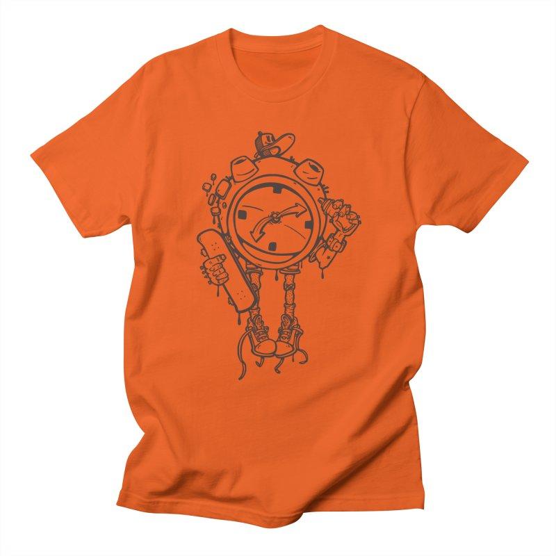 millennial alarm clock lines Men's T-Shirt by manuvila
