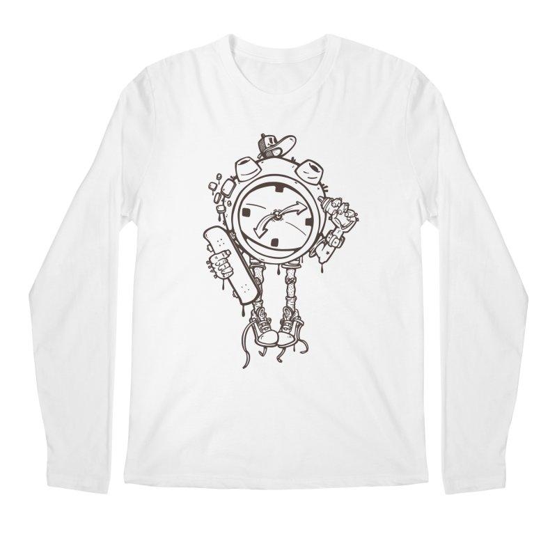 millennial alarm clock lines Men's Longsleeve T-Shirt by manuvila