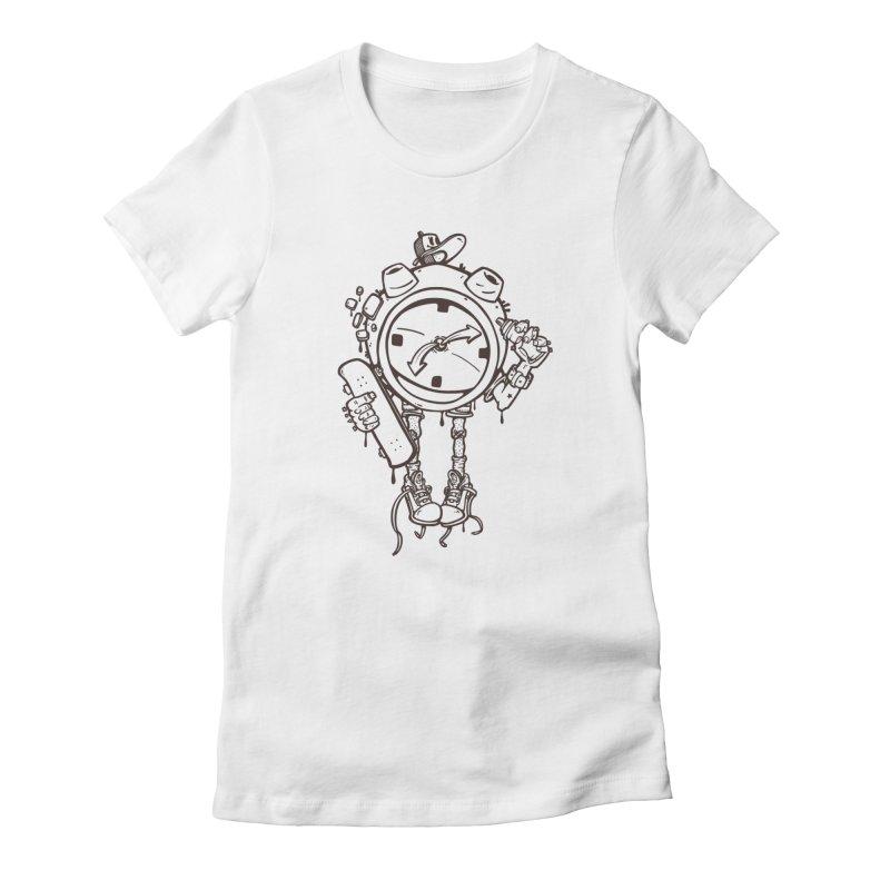 millennial alarm clock lines Women's T-Shirt by manuvila
