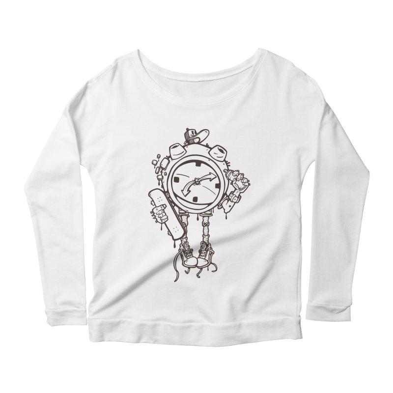 millennial alarm clock lines Women's Longsleeve T-Shirt by manuvila
