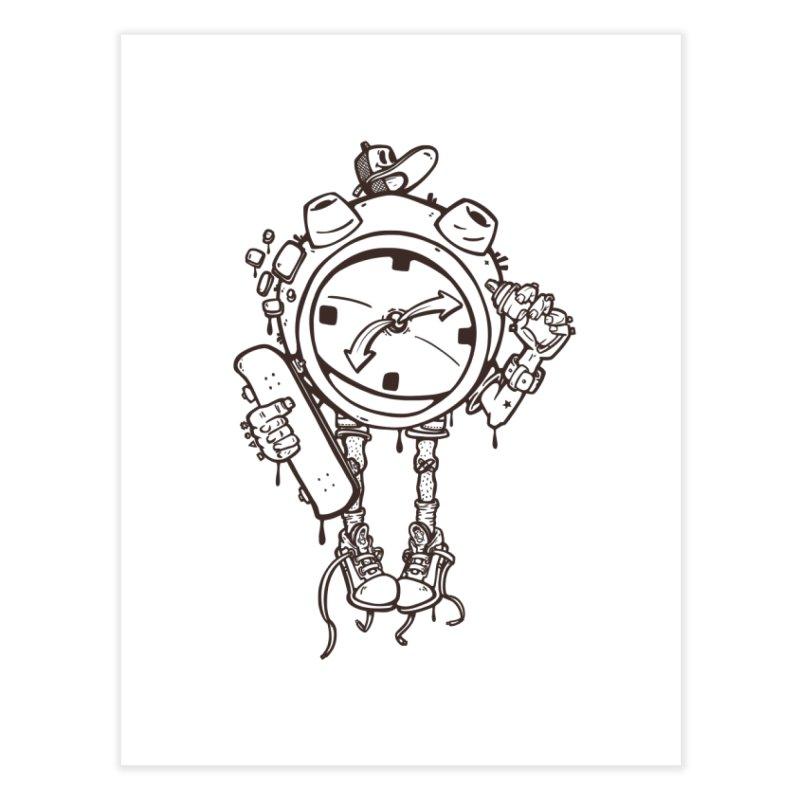 millennial alarm clock lines Home Fine Art Print by manuvila