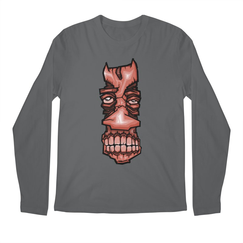 Red face Men's Longsleeve T-Shirt by manuvila