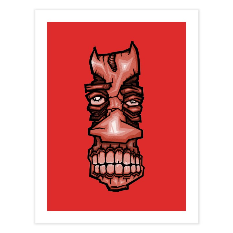 Red face Home Fine Art Print by manuvila